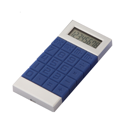 Squares Calculator Navy Blue/Silver