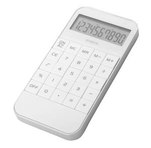 Bianco Pocket Calculator White/Silver