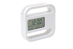 Bianco Multi Function Clock White
