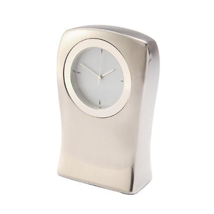 Torso Clock - Silver/Silver
