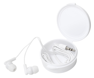 Earphones in budget Case White