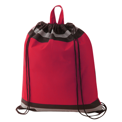 Non Woven Reflective Sports Bag Red & Black