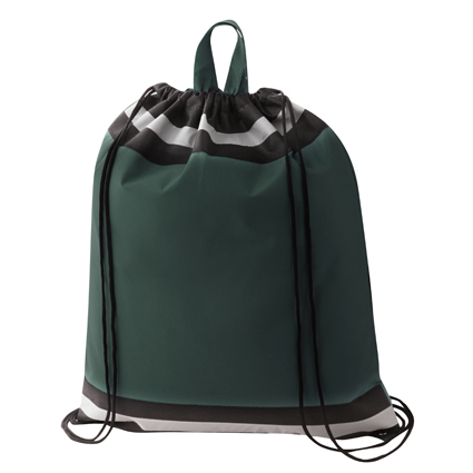 Non Woven Reflective Sports Bag Green & Black