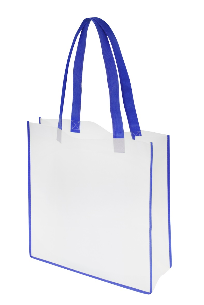 Non-Woven Convention Tote Bag - White/Blue