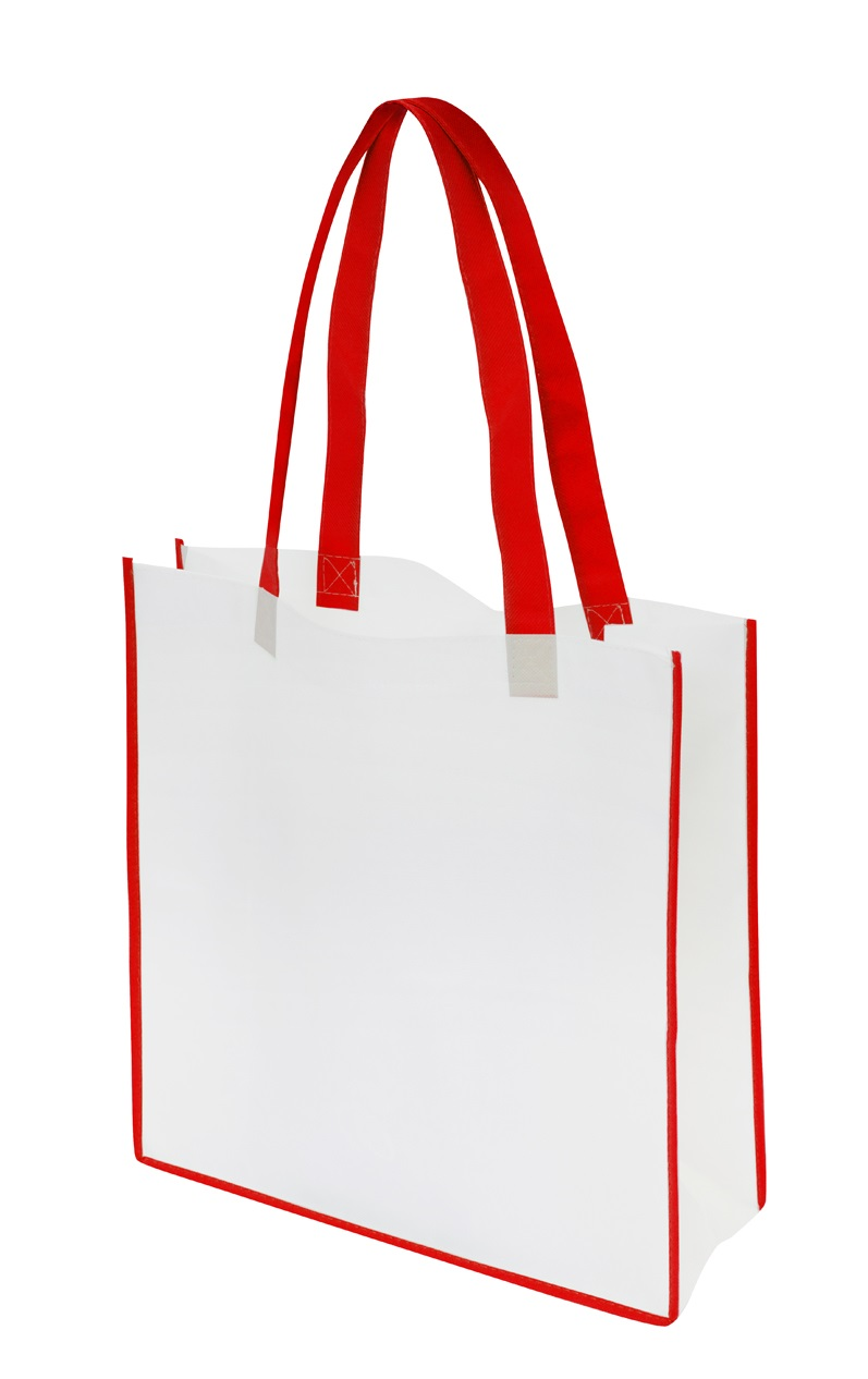 Non-Woven Convention Tote Bag - White/Red
