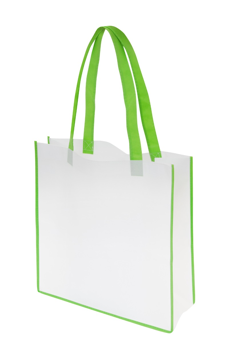 Non-Woven Convention Tote Bag - White/Green