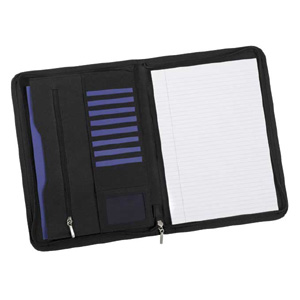 Clio Zip Conference Folder with pads and pens