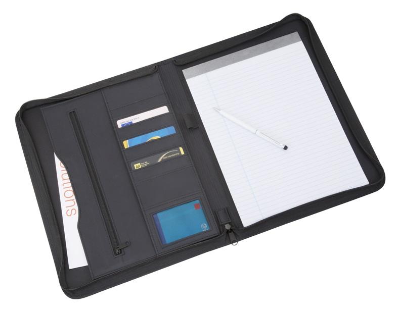 Xenon A4 Zip Round Folder - Black