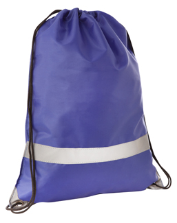 Large Tote/Sports Bag with Reflective Stripe Blue/Silver
