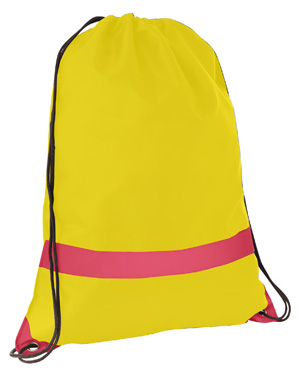Large Tote/Sports Bag with Reflective Stripe Yellow/Red