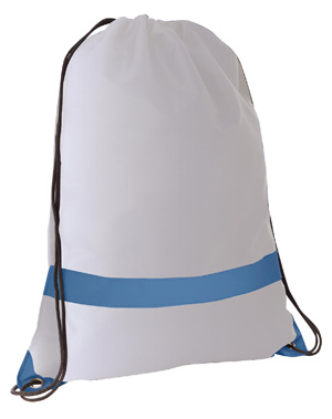 Large Tote/Sports Bag with Reflective Stripe Silver/Blue