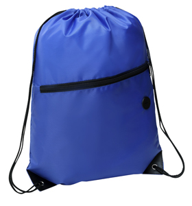 Rio Sports Pack with Front Zipper Blue