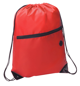 Rio Sports Pack with Front Zipper Red