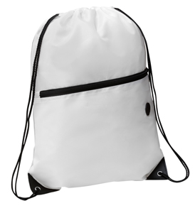 Rio Sports Pack with Front Zipper White