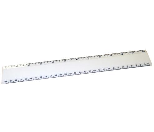 12 Ruler White/White