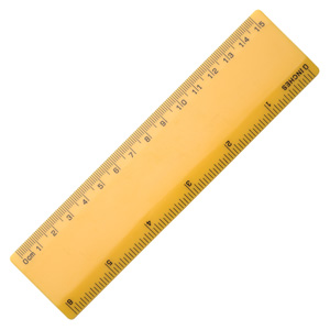 6 Ruler - Yellow/Yellow""