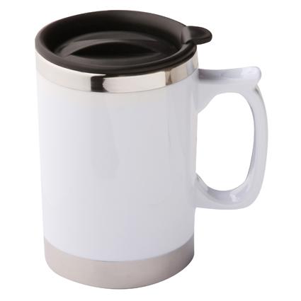 Bianco Mug White & Silver
