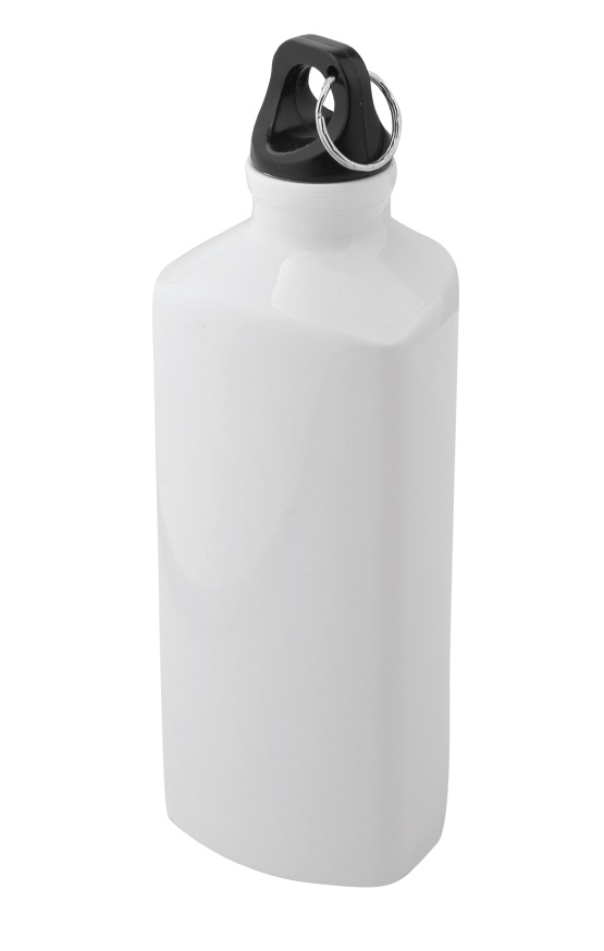 Triangle Aluminium Bottle White/Black