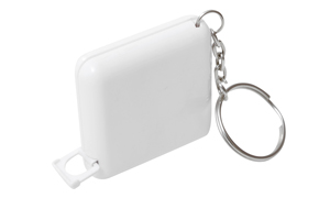 Slim Jim Tape on Keychain White