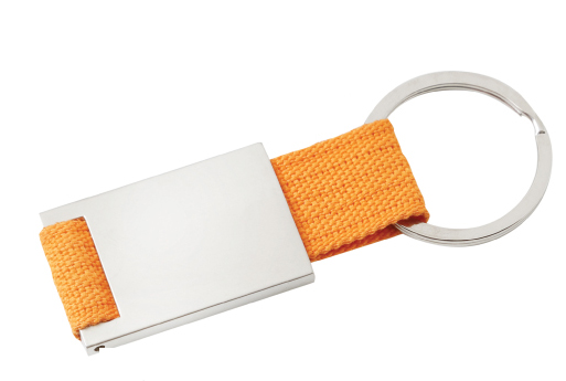 Kinder Keyring Silver/Orange