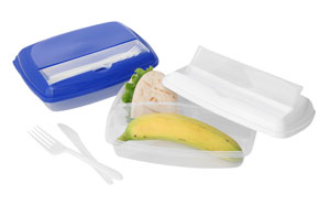Lunch box with 3 sections