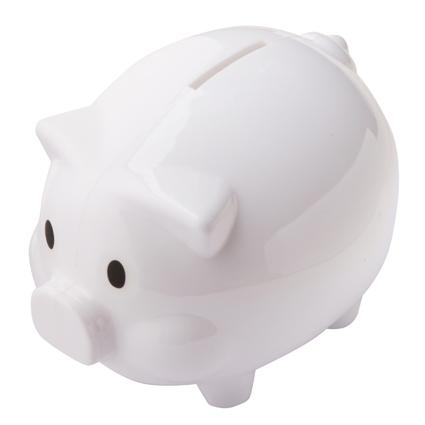 Oink Moneybox White/White