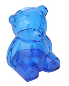 Teddy Bear Money Box Frosted Blue