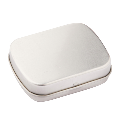 Hinged Tins of Mints - Silver