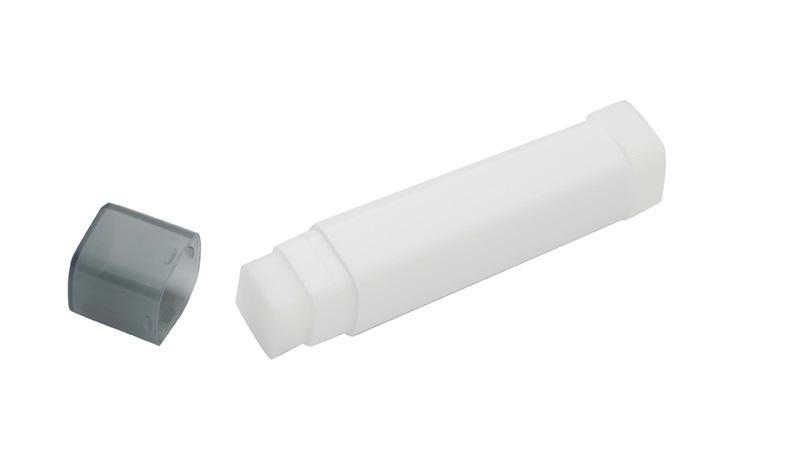 Oblong Lip Balm - White/Black