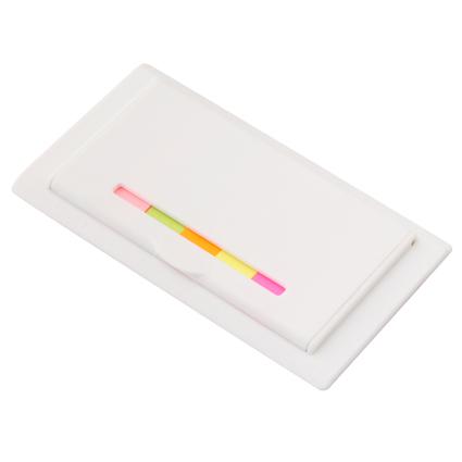 Sticky Flag Case with Ruler White/Multi