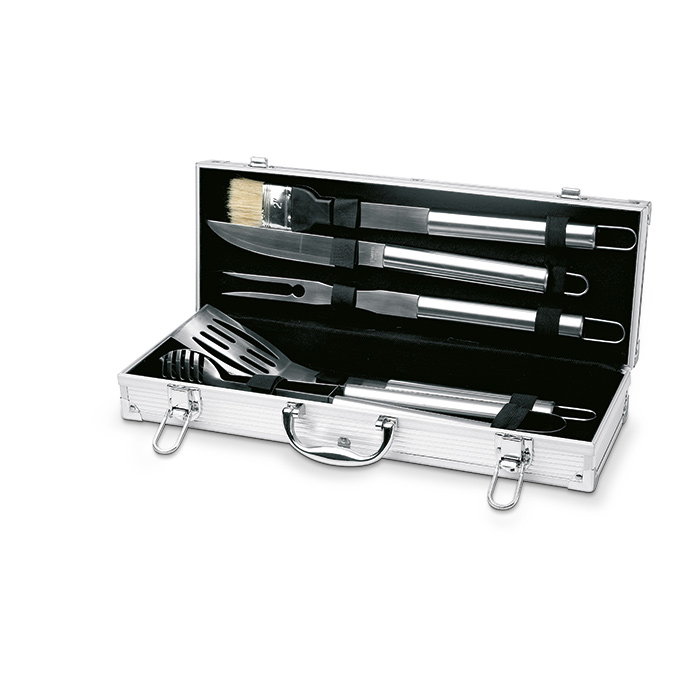 5 Piece Stainless Steel BBQ Set