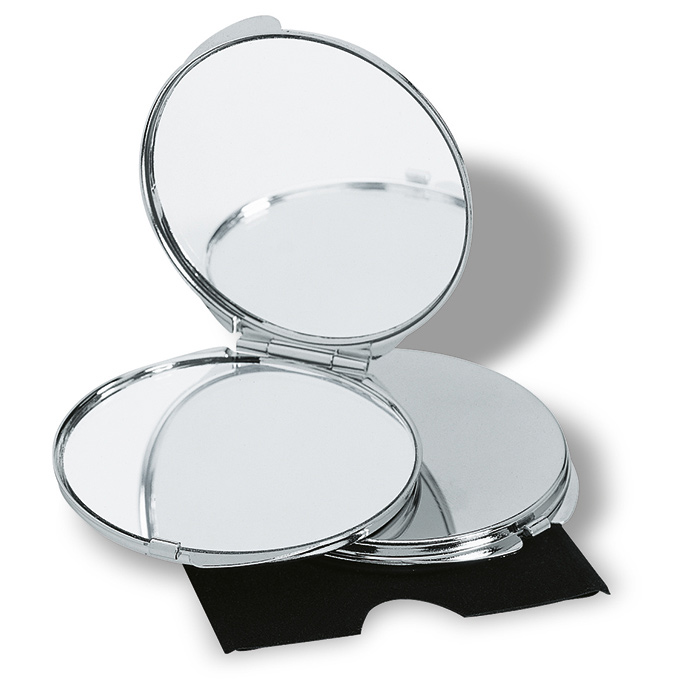 Chrome Plated Mirror Compact