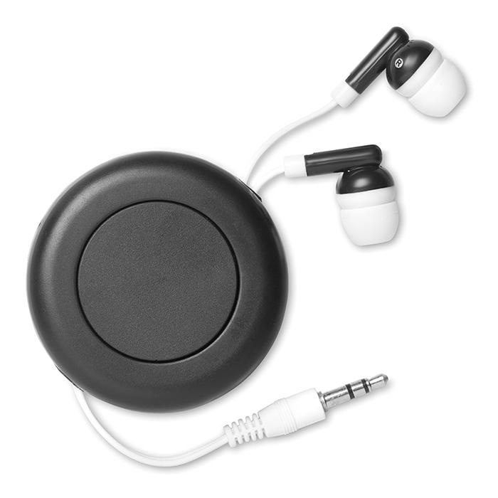 Retractable earphones.