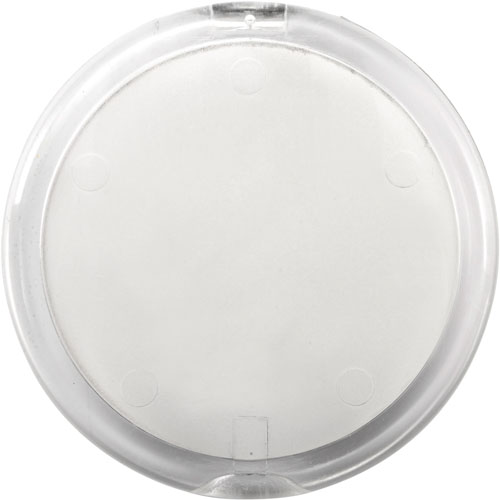 Plastic double pocket mirror.