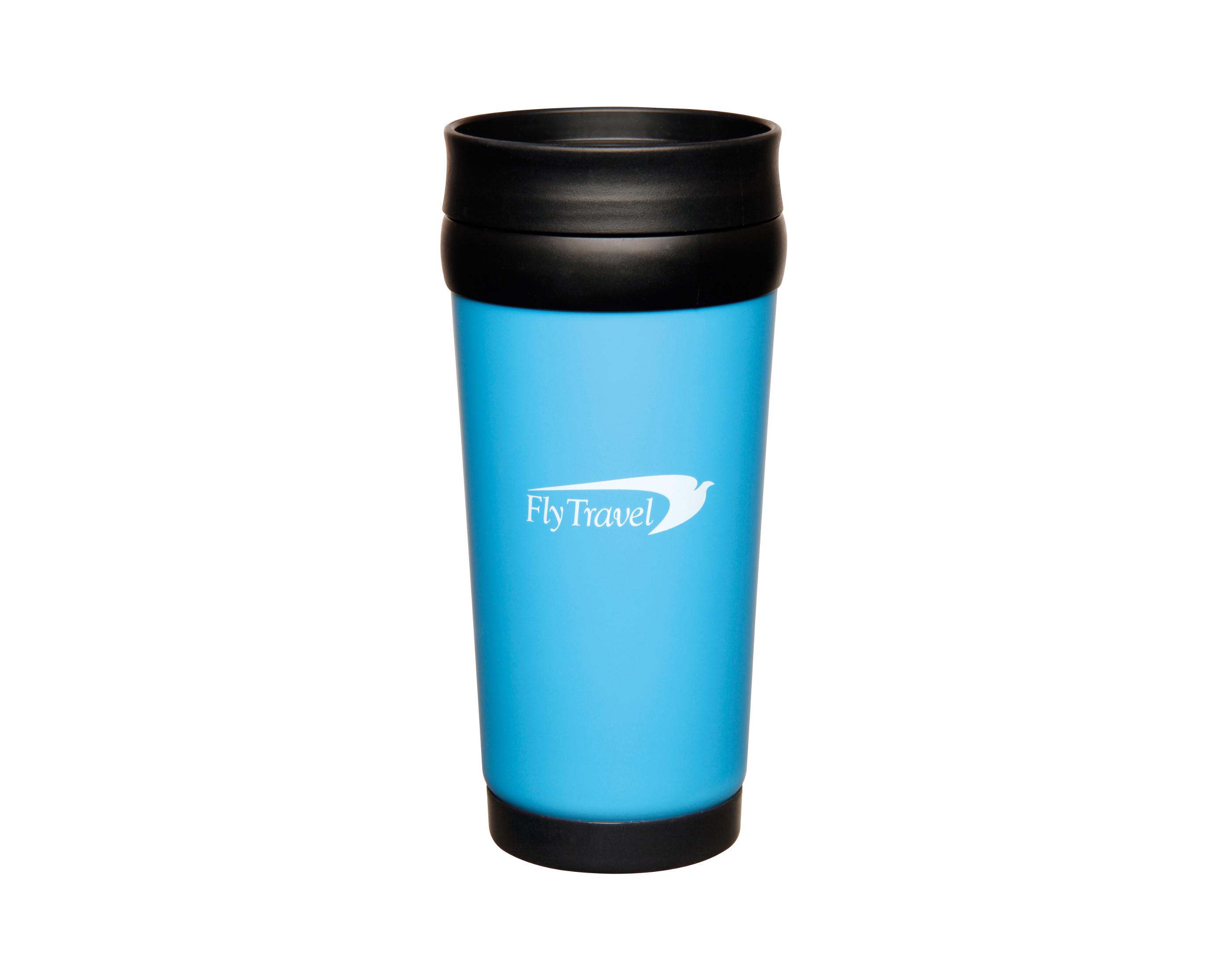 branded travel mugs express corporate promotional products delivered fast. Black Bedroom Furniture Sets. Home Design Ideas