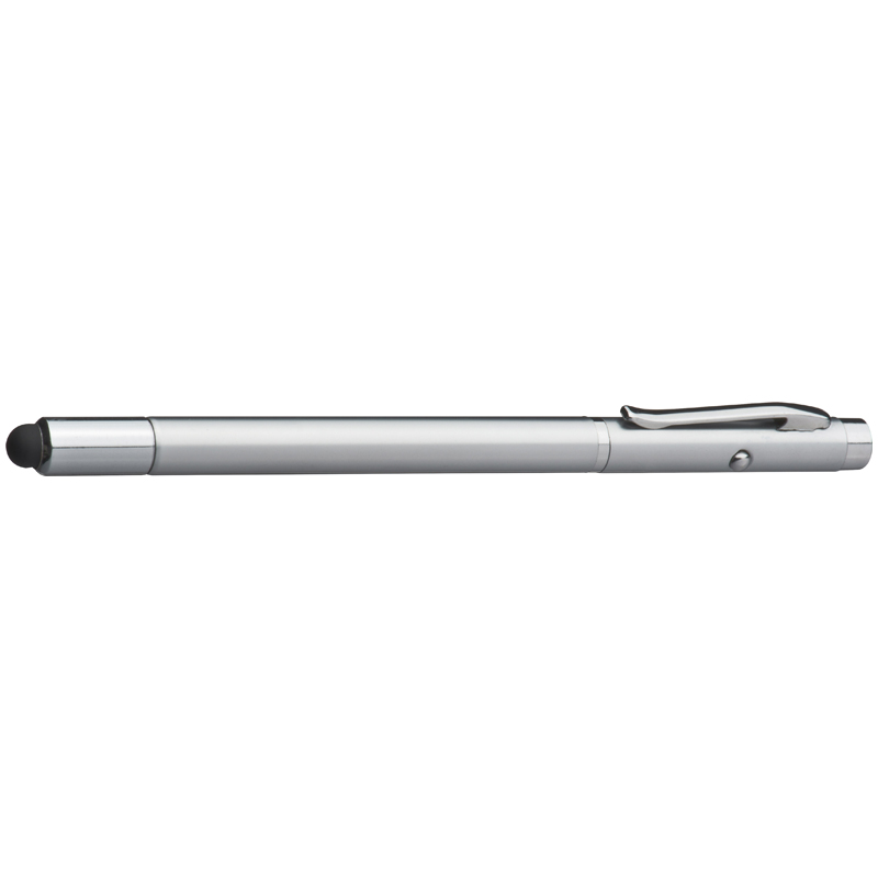 Telescope ball pen with laser pointer