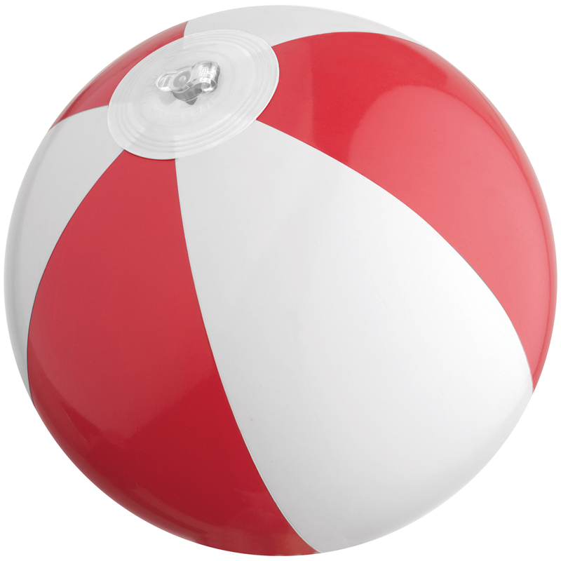 Bicoloured mini beach ball with 21.5 cm segments
