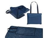 Polyester shoulder bag with an integrated picnic blanket
